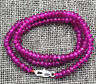 GENUINE TOP NATURAL 2X4mm FACETED Rose Ruby GEMS BEADS NECKLACE 18'' AAA