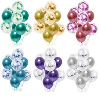 10pc/lot Chrome Confetti Balloons Bouquet Birthday Party Decor Metallic Wedding