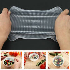 New Stretch and Fresh 4-pack Reusable Silicon Food Wraps Cover AS SEEN ON TV