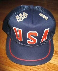 USA 1988 SUMMER / WINTER OLYMPICS (Adjustable Snap Back) Mess Cap