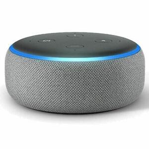 Amazon Echo Dot 3rd Generation Smart Speaker with Alexa - Black/Grey/White