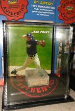 JAKE PEAVY SD PADRES 2007 MOUNTED MEMORIES GAME USED DIRT DISPLAY CASE