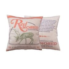Primitives by Kathy 24511 Holiday Red-Nosed Throw Pillow 16-Inch Square Nose NEW