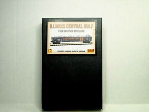MICRO-TRAINS N SCALE 4 CAR 50' GONDOLA RUNNER PK ILLINOIS CENRAL GULF   99300161
