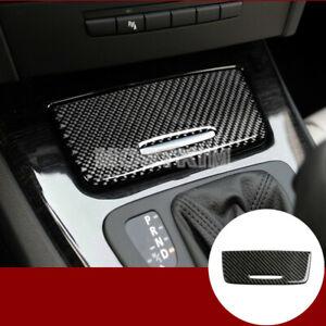 Carbon Fiber Console Storage Box Panel Trim Cover For BMW 3 Series E90 E92 E93