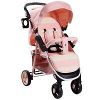 My Babiie MB30 From Birth Baby Pushchair / Pram - Billie Faiers Pink Stripes