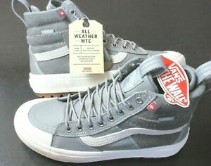 Vans Women's Sk8-Hi Mte 2.0 Dx All Weather Boots Frost Grey Marshmallow Size 8