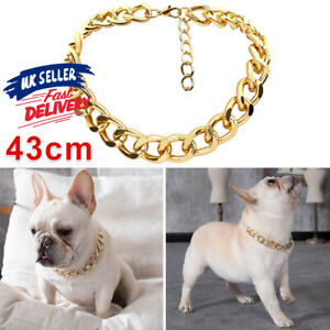 Small Dog Necklace Pet Gold Adjustable Jewelry Puppy Neck Accessory Chain Collar