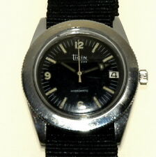 Ticin Rado Hydromatic diver military automatic vintage wrist watch