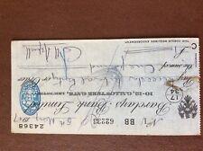 b1u ephemera cashed barclays bank cheque 1947 may 62233 aspell