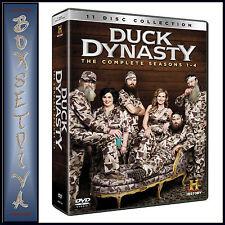 DUCK DYNASTY - COMPLETE SEASONS 1 2 3 & 4  *BRAND NEW DVD BOXSET ***