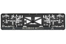 Mitsubishi 2xECHTE 3D-Effekt Kennzeichenhalter Nummernschildhalter chrom