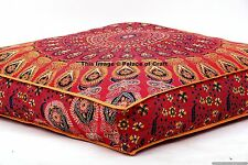 Indian Daybed Big Seating Mandala Floor Pillow Cover Pouf Cushion Case Bohemian