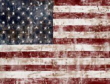 "TIN SIGN ""American Flag Vintage"" Patriotic Garage Wall Decor"