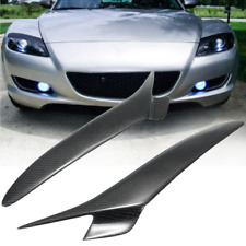 Real Carbon Fiber Headlight Eyebrows Eyelids Trim For Mazda RX 8 RX8 04-08