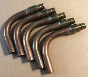 """(5) UPONOR LF2885050 PROPEX LF COPPER TUB ELBOW 1/2"""" PEX LF BRASS x 1/2"""" COPPER"""
