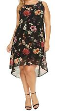 NEW NWT Karen Kane Plus Size Floral Sleeveless High-Low Hem Dress 1X Made in USA