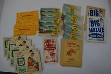 Lot of Trading Gift Stamp Savings Books Top Value S&H Green Big Value