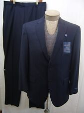 Loro Piana Italy Daniel Cremieux Mens Two-Button Suit Wool 2PC Blue 38 R 32 $695