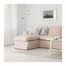 IKEA EKTORP - Slipcover for Loveseat with Chaise Mobacka Red Beige - New/Sealed