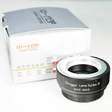 Zhongyi Lens Turbo II Focal Reducer Adapter M42 Mount Micro 4/3 M43 Om-d Boxed