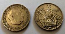 MONEDA 5 PESETAS  ESTADO ESPAÑOL (Franco)- MADRID  1957(*67)