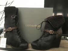 UGG Collection Italy - Caprera Brown Leather/Fur Boots - US Size 8.5