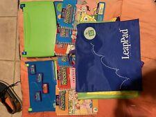 Leap Frog Leap Pad Plus Writing Books Cartridges Backpack Case Lot Bundle