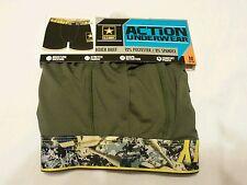 Men Boxer Brief Action Underwear Size M 32-34 U.S. Army Green