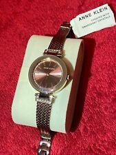 anne klein watch brown classy elegant formal chain rhinestones