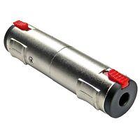 keepdrum ADA079 Adapter Klinken-Kupplung 6,35mm Buchse auf Buchse Audioadapter