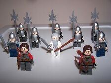 LEGO® lotr minifigure custom white gandalf gondor hobbit castle armor helmet lot