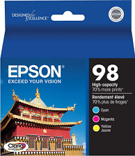 New Genuine Epson 98 3PK Ink Cartridges Artisan 730 Artisan 800 Artisan 810