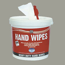 Tub of 150 Heavy Duty Hand Wipes Cleaning Grime Oil Paint Grease Garage IW10