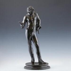 Grand Tour Bronze um 1880 Dionysos Narziss Pompeji Hellenismus Italien Klassik
