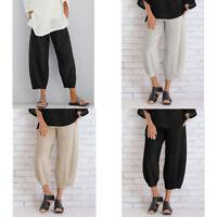 Trousers Long Solid Wide Legs Casual Plus Women's Harem Plain Pants