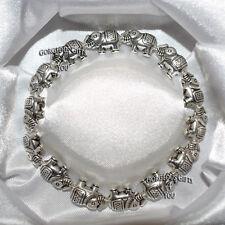 En Caja de Regalo Elegante Pulsera Con Cuentas De Fantasía De Elefantes Suerte Cumpleaños Jewellery UK