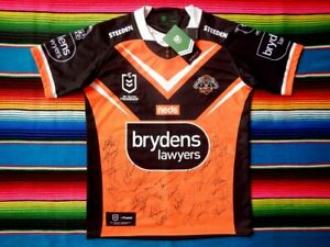 ✺Signed✺ 2021 WESTS TIGERS NRL Jersey PROOF COA 25 Autographs