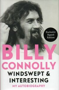 Billy Connolly Auitograph-Windswept & Interesting - Hardback Book Signed - AFTAL