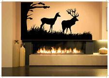 Wall Decal Room Sticker Bedroom elk deer animal horns nature beautiful bo2934