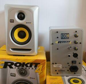 KRK Rokit 4 Aktiv-Monitore in silber, 3. Generation mit Bi-Amping