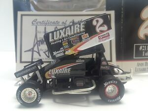 1/50 SCALE #21 GMP Andy Hillenburg Luxaire Sprint Car 1of2448 Autographed Signed