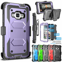 For Samsung Galaxy Express 3 / Luna 2016 Holster Stand Case Hybrid Phone Cover