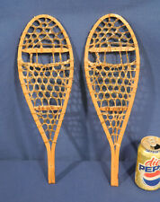 """Vtg Antique 16"""" Wood Miniature Salesman Sample Snowshoes Faber Made in Canada"""