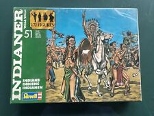 REVELL 1/72  - WILD WEST AMERICAN INDIANS - Complete ON sprues VINTAGE GREEN BOX