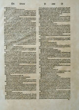 INKUNABEL BLATT WÖRTERBUCH JOHANNES BALBUS CATHOLICON JEAN DUPRÉ PRATO LYON 1489