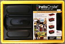 Instacrate Yellow Collapsible Crate Car Storage Container 46 Litre Insta Crate