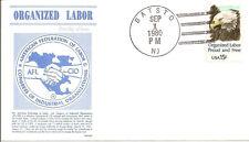 ORGANIZED LABOR - 1831 FDC  - GAMM CACHET - 1980