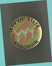 1990 Tri State Precision Skating Competition Lapel Pin Vg/Ex - In, Oh & Mi