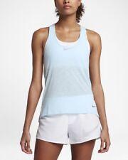 Nike Womens Dri Fit Breathe Tank Top Size M Medium 831782-411 Sheer Light Aqua